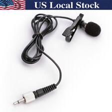 Black Lavalier Lapel Microphone for Sennheiser Wireless Transmitter G1 G2 G3 EW