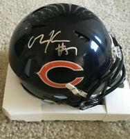 Olin Kreutz Chicago Bears Signed Autograph Mini Helmet JSA COA