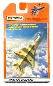 VINTAGE MATCHBOX MATTEL WHEELS SKY BUSTERS JET FIGHTER MIG-21 NEW SEALED CARD