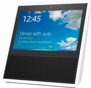 Amazon MW46WB Echo Show 1st Generation Bluetooth Smart Speaker with Alexa White