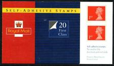 1993 - 20 FIRST CLASS SELF ADHESIVE STAMPS BOOKLET