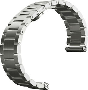 Motorola Moto 360 2nd Gen Mens 42mm Silver Metal Link Smartwatch - OEM BAND 🔥