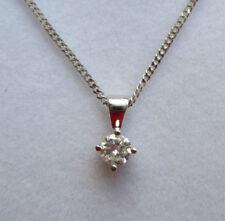 Collares y colgantes de joyería colgante en oro blanco de 18 quilates