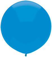 "LATEX 17""(43CM) BRIGHT BLUE PACK OF 50 QUALATEX BALLOONS PARTY SUPPLIES"