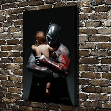 Batman and Baby Paintings HD Print on Canvas Home Decor Wall Art Pictures Poster