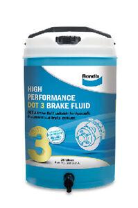 Bendix High Performance Brake Fluid DOT 3 20L BBF3-20L fits Ford Escort 1.1, ...
