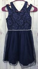 Girls Dress Size 8 Navy Lots of Love by Speechless