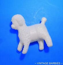 Barbie Doll Sized White Plastic Poodle Hong Kong Minty ~ Vintage 1960's