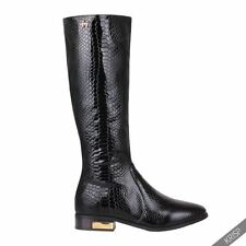 Animal Print Zip Knee High Boots for Women