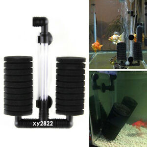 Biochemical Sponge Filter Fry Aquarium Fish Tank Double Sponge Water Filter HOT