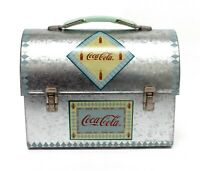 2001 Coca Cola Mini Tin Lunch Box Workman Coke Collectible