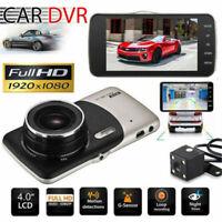 "4"" FHD 1080P Car DVR Dash Cam Front and Rear Dashboard Camera 170° Recorder HK"