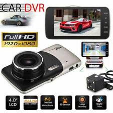 "4"" 1080P HD 170°Touch Screen Car DVR Dash Cam G-sensor Recorder+Rearview Camera"