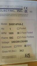 Sterling SH0014PHA Stainless Steel 1HP 1800RPM 56C TEFC Footed Motor (SB0014PHA)