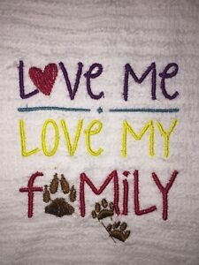 Embroidered Kitchen Bar Hand Towel   LOVE ME LOVE MY FAMILY BS0770
