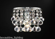 * SALE * Single Wall Light In Chrome With Stunning Crystal Ball Droplets 1x60W