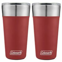 Coleman Brew Tumbler 20oz Heritage Red Insulated Stainless Steel Cup (2-Pack)