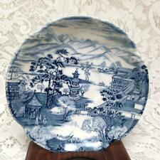 Vintage, Rare, Johnson Bros., England Variant Blue Willow Saucer 6in D
