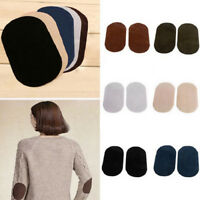 2Pc Suede Leather Iron-on Oval Elbow Knee Patches DIY Repair Sewing Applique