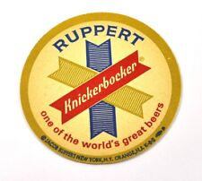 Ruppert Knickerbocker bière Dessous-de-verre Dessous De Verre coaster USA