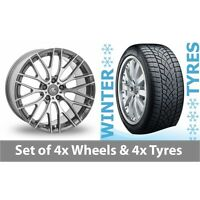 "4 x 20"" AC Wheels Syclone Hyper Silver Alloy Wheel Rims and Tyres -  265/35/20"