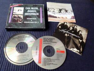 2xCD Johnny Cash Willie Nelson Waylon Jennings Kris Kristofferson HIGHWAYMAN 1&2