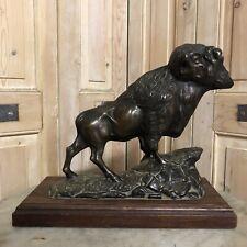 Leblanc Bronze Ancien Bison Americain Buffalo US Indien XIXeme Amérique