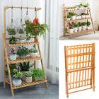 Large Bamboo Flower Pot Shelf Plant Stand 3 Tiers Planter Ladder Rack Organizer