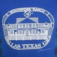 vintage 80s DALLAS TV SHOW SOUTHFORK RANCH PAPER THIN T-Shirt S/M texas cowboy