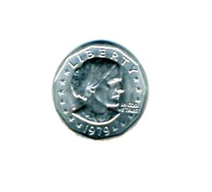 1979 - P  SUSAN B. ANTHONY DOLLAR WITH WIDE RIM NEAR DATE