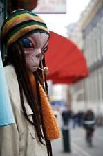 Old Photo. Amsterdam.  Alien Smoking Marijuana