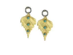 """Kanupriya """"Heritage Collection"""" 22k Gold-Plated Leaf Design Earrings. Z49"""