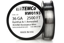 TEMCo Kanthal A1 wire 36 Gauge 2500 Ft Resistance AWG A-1 ga
