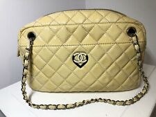 $3800 Chanel Vintage Bag Pre-owned Yellow