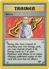 POKEMON GYM CHALLENGE BLAINE TRAINER 100/132 POKEMON CARD LIGHTLY PLAYED