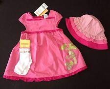 NWT Gymboree Monkey Island 12-18 Months Pink Ruffle Dress Socks & Hat