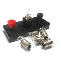 10PCS Miniature Screw Base Light Bulb E10 2.5V/0.3A Lamp Flashlight Torch Lot
