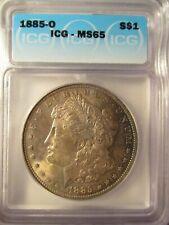 1885-O MORGAN SILVER DOLLAR MS65 ICG