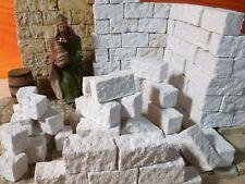 Krippenzubehör, Krippenbau, Ruinen Bausteine in neuem Format 75St.  3x1,5x1,5cm