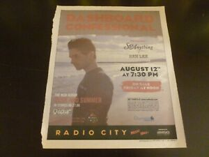 Dashboard Confessional 2006 Concert Poster Ad Advert Say Anything Ben Lee
