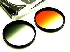 58mm Graduated Grey + Orange Filters For Canon 77D 80D T5i T6i T7i 18-55m Lens