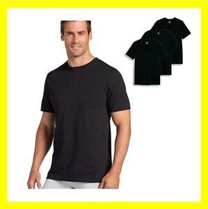 New Jockey Classic Crew Neck T-Shirt 3 Pack Black Cotton T-shirt Blank
