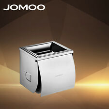 JOMOO Practical Toilet Paper Holder Bathroom Tissue Box with Phone Shelf Holder
