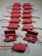 Red 3/8 Stud Dual Terminal Block Covered Lid Battery Junction Box Distribution