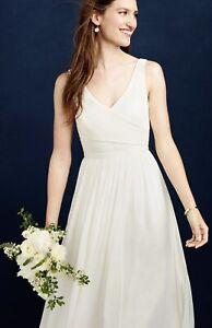 Dreamy J.Crew Jcrew Heidi Silk Chiffon Ivory Wedding Gown Dress Size 2