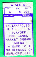 RARE! 4/28/77 INDIANAPOLIS RACERS PLAYOFFS HOCKEY TICKET STUB-QUEBEC NORDIQUES