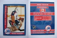 2015 SCA Mike Veisor rare Winnipeg Jets goalie never issued produced #d/10