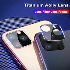For iPhone 11 Pro Max XR Metal Back Camera Lens Tempered Glass Screen Protector