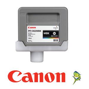 Canon PFI-302MBK Matte Black Ink Tank iPF 8100 9100 OEM NEW replaces PFI-301MBK