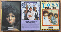 3x THE CHI-LITES CASSETTE TAPES LOT SOUL FUNK VG+ COND HALF A LOVE TOBY ETC